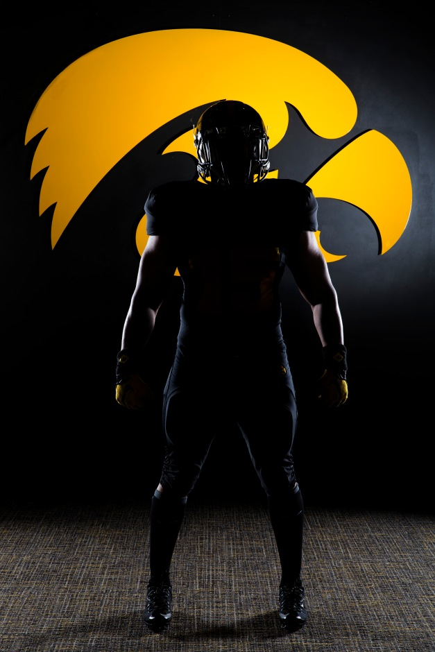 Hawkeye Football's alternate uniform Sunday, Aug. 16, 2015 at the Hansen Football Performance Center.  (Brian Ray/hawkeyesports.com)