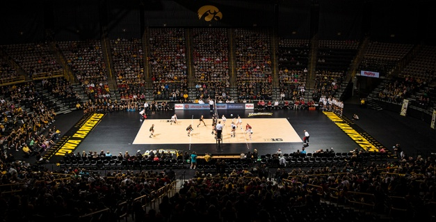 The Iowa Hawkeyes face the Iowa State Cyclones in the Iowa Corn Cy-Hawk Series Friday, Sept. 11, 2015 at the Carver-Hawkeye Arena. (Brian Ray/hawkeyesports.com)